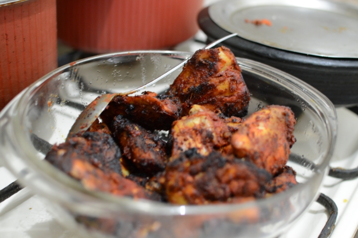 Grilled chicken.. cooked in the microwave oven